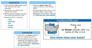 Lawrence name popularity matrix in US citizen using How many of me-min