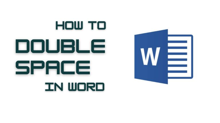 How To Double Space in Word Doc