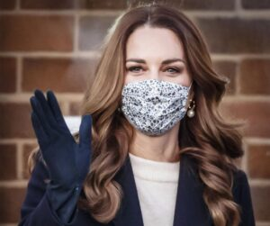 Kate Middleton with Mask during COVID 50 most popular women on the Internet